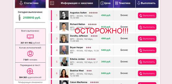 Людмила Попова и портал Audio Hunter-отзывы о лохотроне
