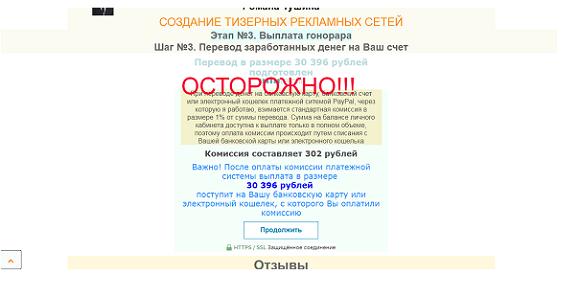 Создание тизерных рекламный сетей от Романа Тушина-отзывы о лохотроне