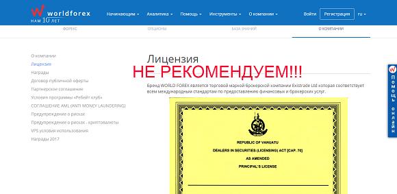 Wforex.ru - отзывы о проекте