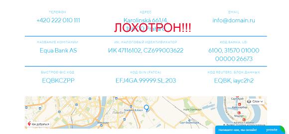 Equa bank - отзывы о кредитных мошенниках equabank-as.ru