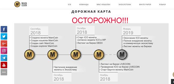 Криптовалюта Maincoin - отзывы о мошенниках