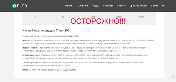 Oplod - отзывы о проекте oplod.su