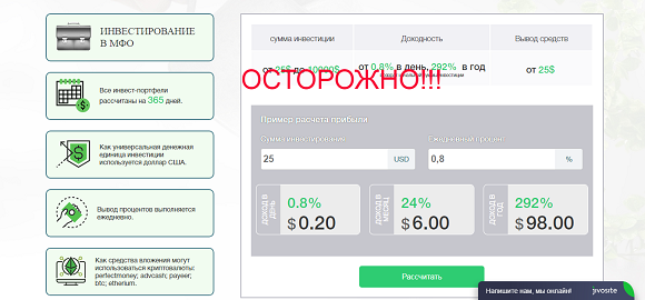 CashbackInvest.net - обзор проекта и отзывы о КэшбэкИнвест