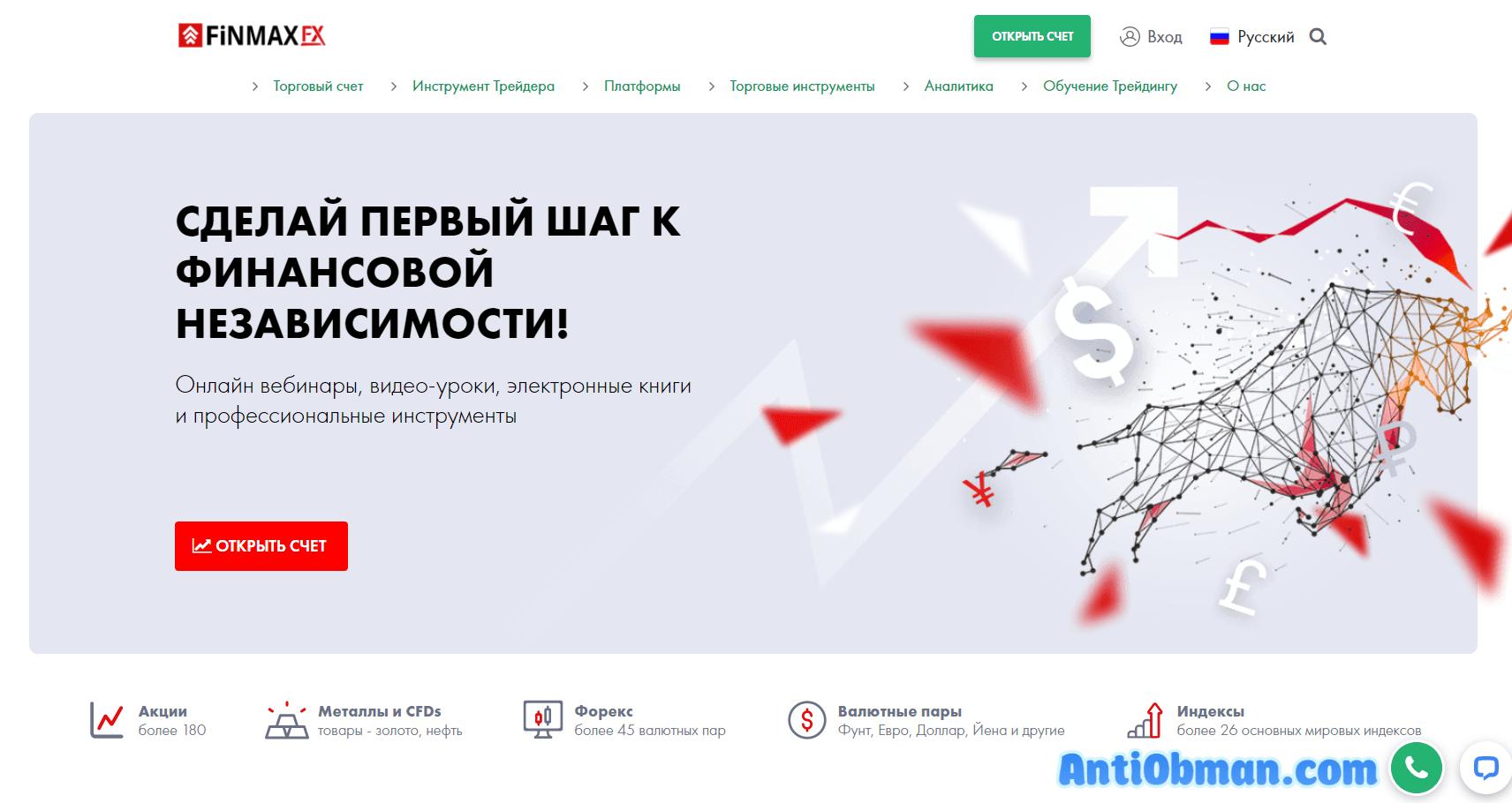 FinmaxFX официальный сайт