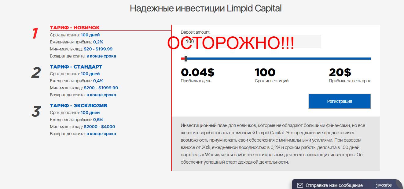 Реальные отзывы о Limpid Capital - прибыльная платформа
