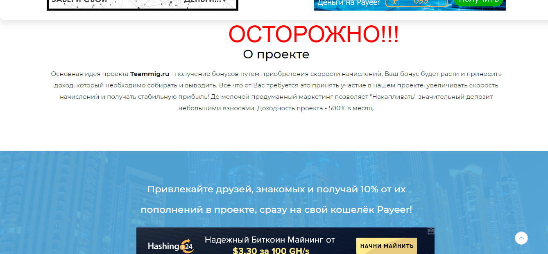 Отзывы о Teammig - обзор Teammig.ru