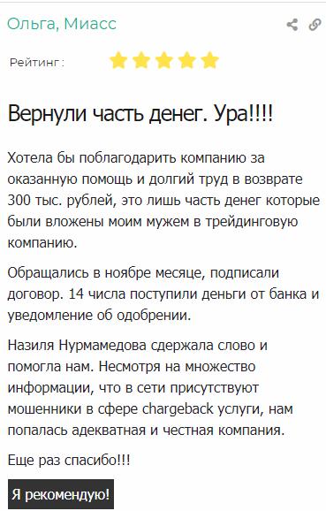отзывы о AllChargeBacks.ru