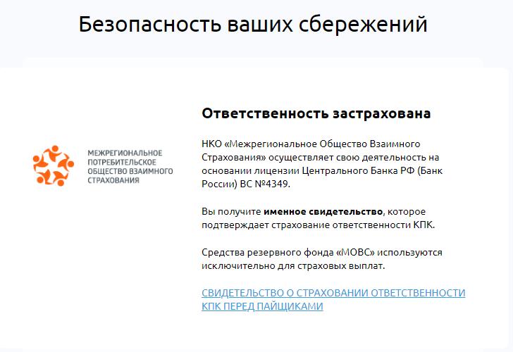 КПК Ленинградский Финансовый Центр страхование