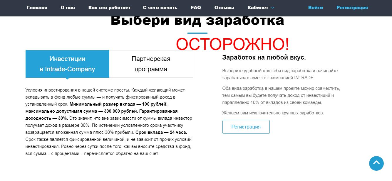Intrade Company - отзывы и обзор intrade-company.com
