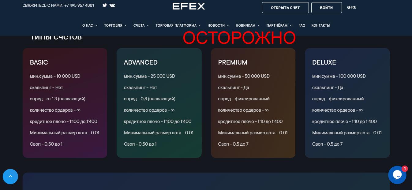 Брокер Efex Capital - реальные отзывы о efexcapital.limited