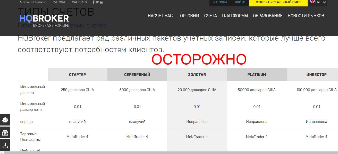 HQ Broker - отзывы о hqbroker.com. Развод?