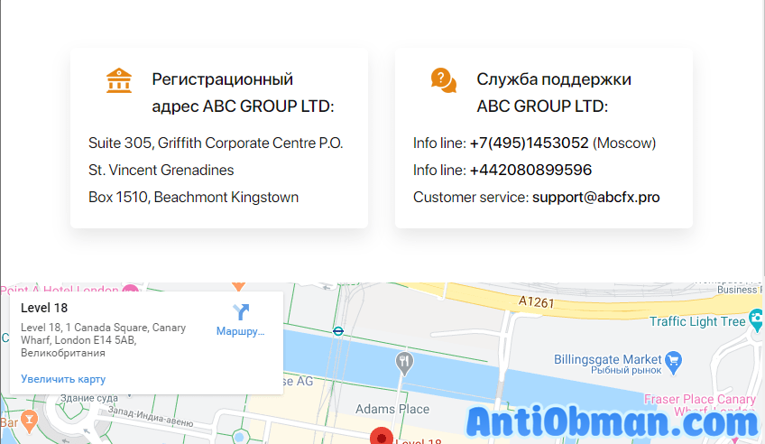 Контакты ABC Group