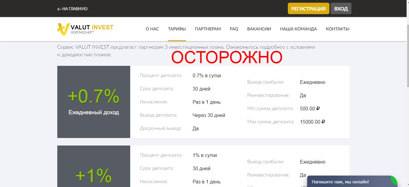Valut Invest - отзывы и репутация платформы valutinvest.com