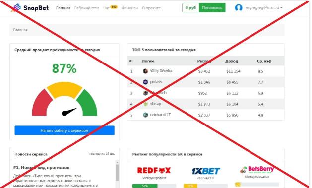 SnapBet - лохотрон Владимира Смирнова. Отзывы о snapbettup.icu
