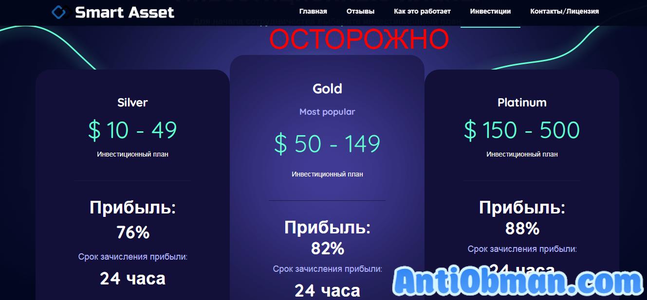 Отзывы о Smart Asset - инвестиционная компания smartasset.ru. Развод?