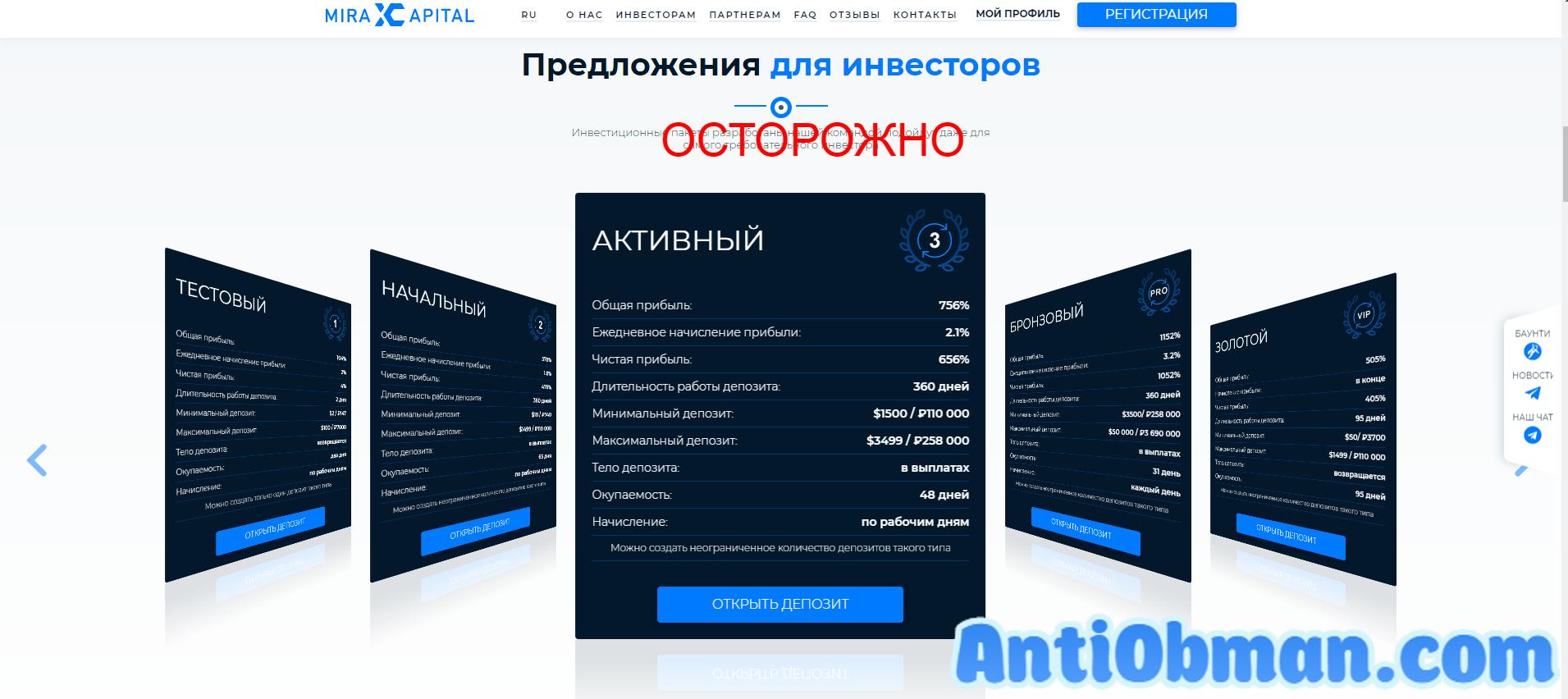Mirax Capital (miraxcapital.com) - реальные отзывы и проверка