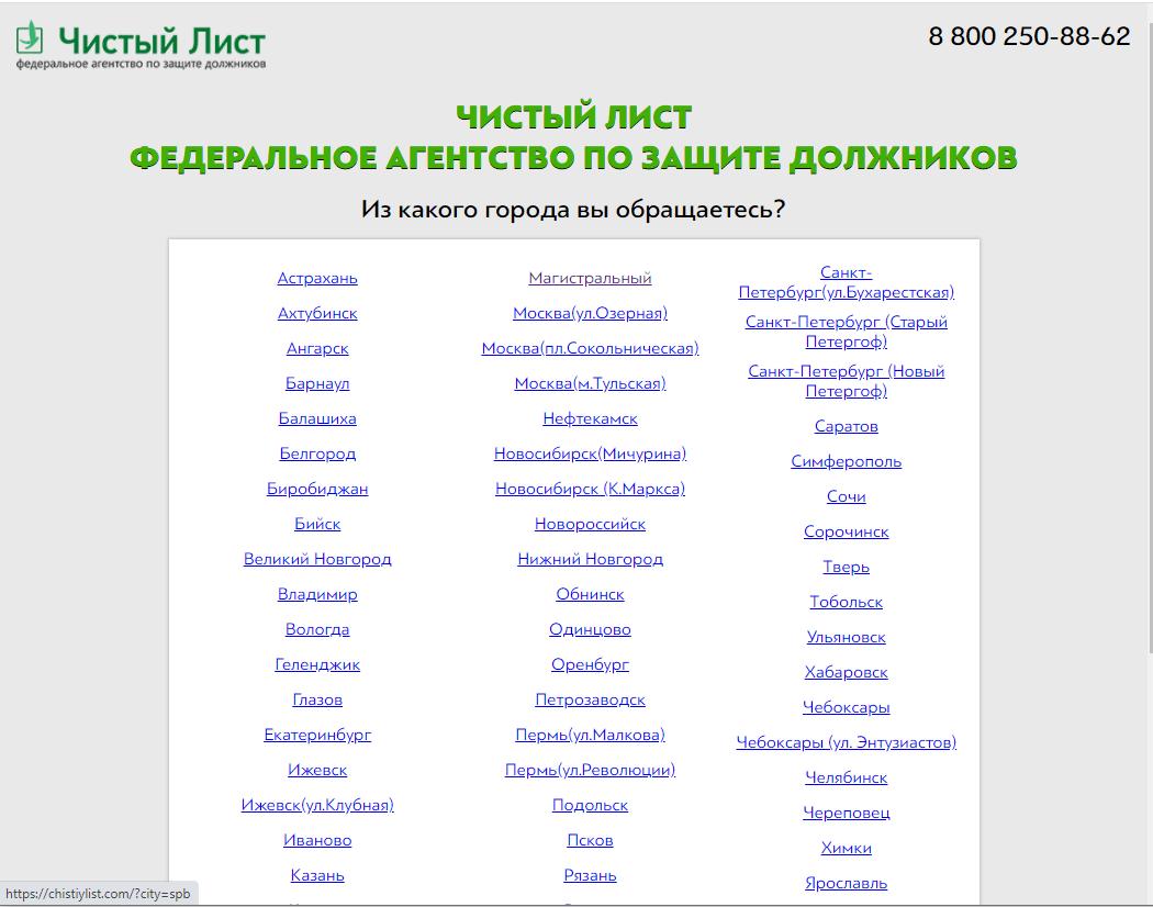 Антиколлекторское агентство Чистый Лист - отзывы клиентов