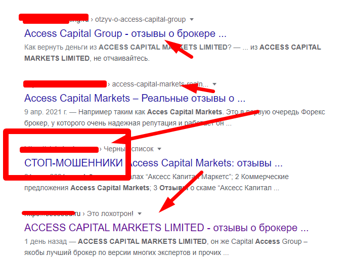 ACCESS CAPITAL MARKETS LIMITED отзывы